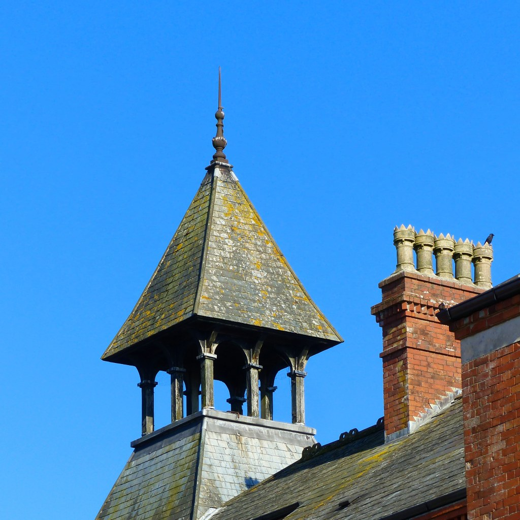 Rooftop features of Greenwood House in Charlton Down, Dorset.